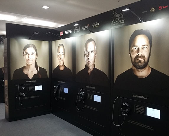 Faces Behind The Voices, Multimediale Ausstellung, Fotografie, Synchronsprecher, Marco Justus Schöler