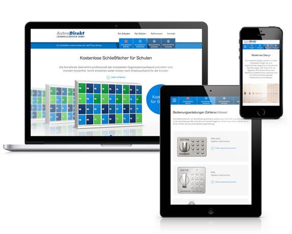 AstraDirekt, Website, Responsive Design, Werbeagentur Magenta, Mannheim