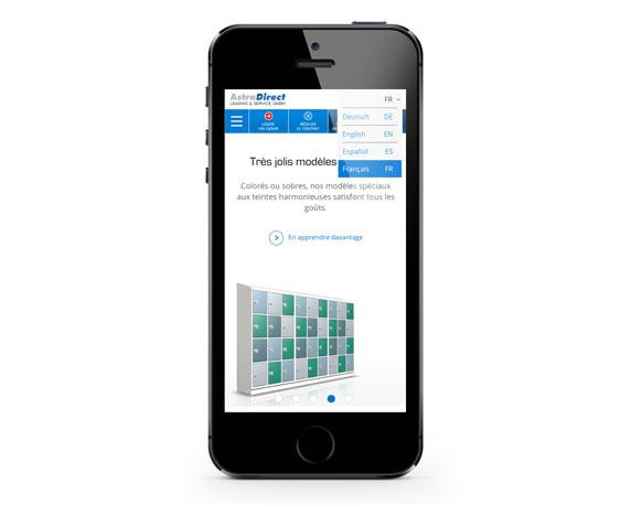 AstraDirect, Website, französisch, Smartphone