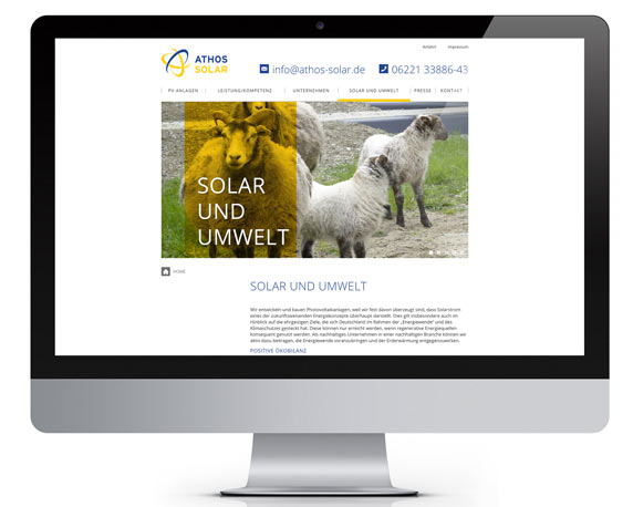 Athos Solar, Website