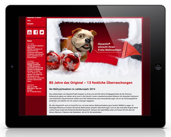 BASF SE Glysantin, Website, Weihnachtsspecial, Werbeagentur magenta, Mannheim