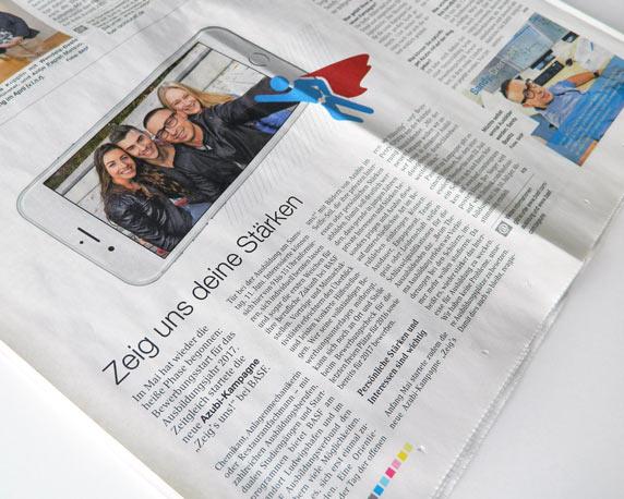 BASF SE, Azubitoolkit, Kampagne, Booklet, Zeitungsartikel