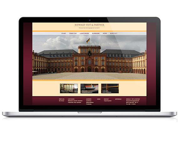 Biewald, Feit & Partner, Website, Werbeagentur magenta, Mannheim