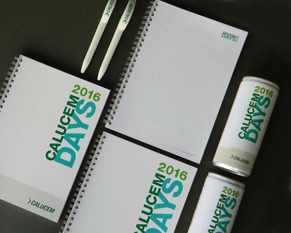 Calucem, Calucem Days 2016, Veranstaltung, Event, Rosengarten Mannheim, Branding, Give-Aways, Notizbuch, Kugelschreiber, Energy-Drinks