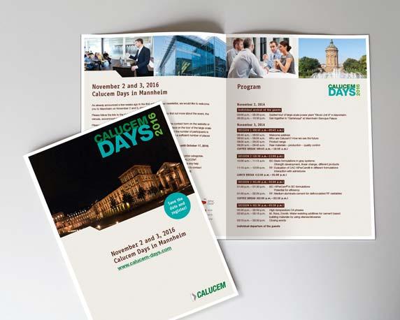 Calucem, Calucem Days 2016, Veranstaltung, Event, Rosengarten Mannheim, Branding, Folder, Programm