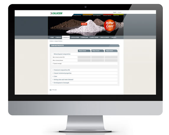 Calucem, Website, Produktvergleich