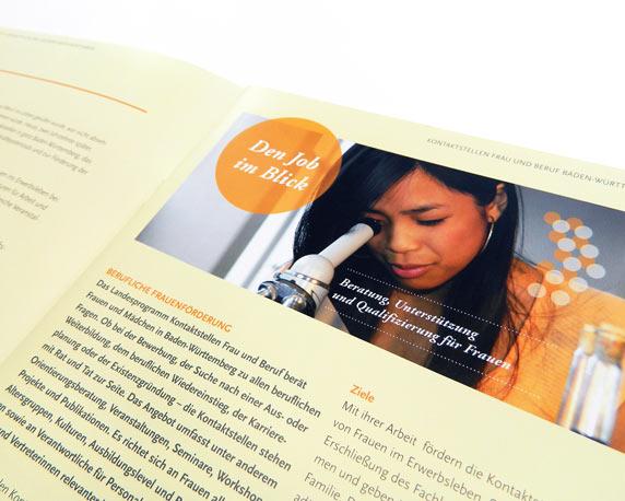Communication Harmonists, Frau und Beruf, Broschüre, Detail