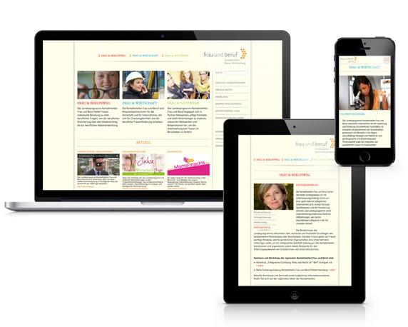 Communication Harmonists, Frau und Beruf, Website, verschiedene Endgeräte