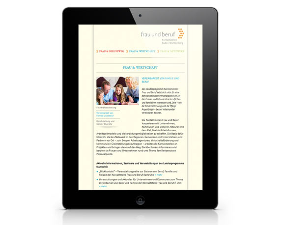 Communication Harmonists, Frau und Beruf, Website