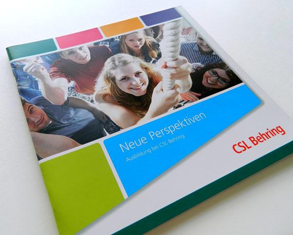 CSL Behring, Azubibroschüre, Ausbildung, Werbeagentur magenta, Mannheim
