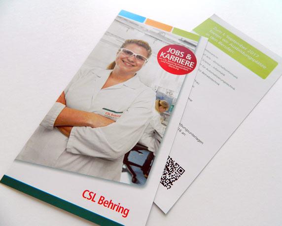 CSL Behring, Azubi, Ausbildung, Flyer