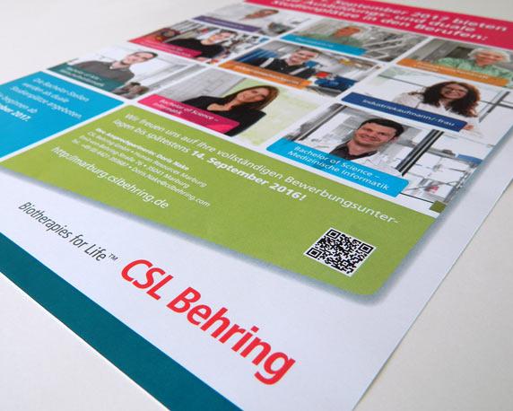 CSL Behring, Azubis, Ausbildung, Poster