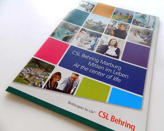 CSL Behring, Imagebroschüre, Werbeagentur magenta, Mannheim