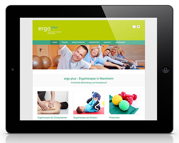 Ergoplus, Website