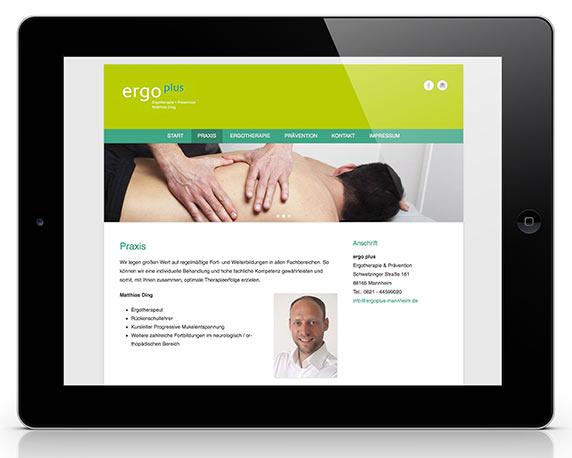 ergo plus, Website, Logo
