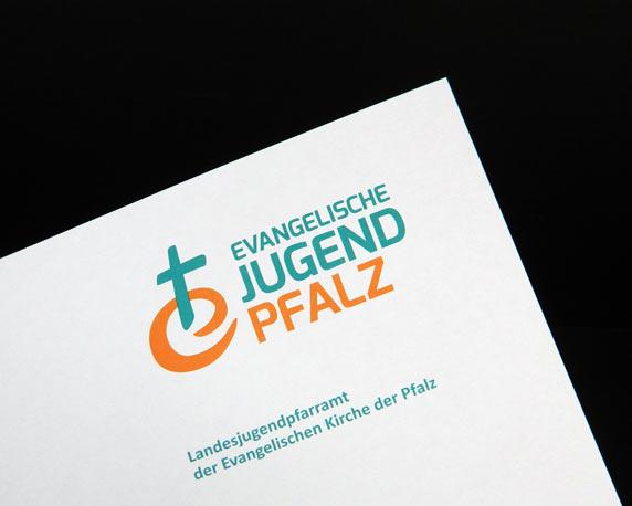 Evangelische Jugend Pfalz, Landesjugendpfarramt, Corporate Design, Logo, Briefbogen, Werbeagentur magenta, Mannheim