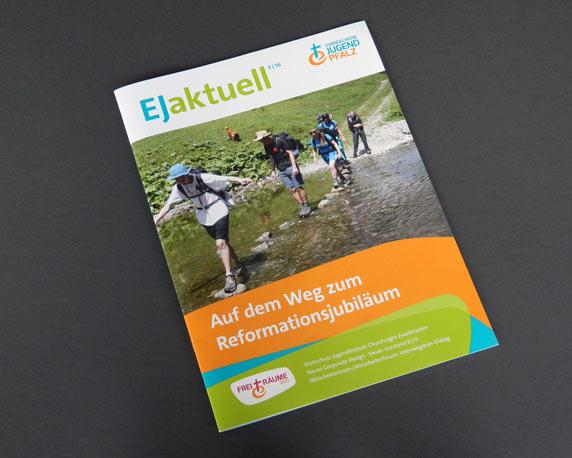 Evangelische Jugend Pfalz, Landesjugendpfarramt, Corporate Design, Logo, Magazin, EJ Aktuell