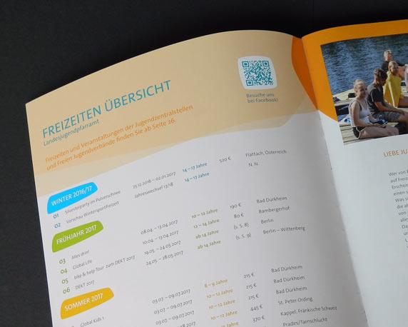 Evangelische Jugend Pfalz, Landesjugendpfarramt, Corporate Design, Logo, Freizeitenkatalog