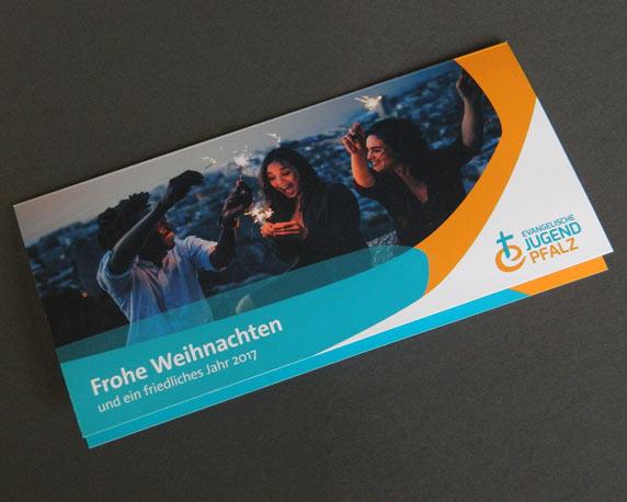 Evangelische Jugend Pfalz, Landesjugendpfarramt, Corporate Design, Logo, Weihnachtskarte