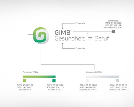 Logo, Corporate Design, Gesundheit, Beruf, GIMB