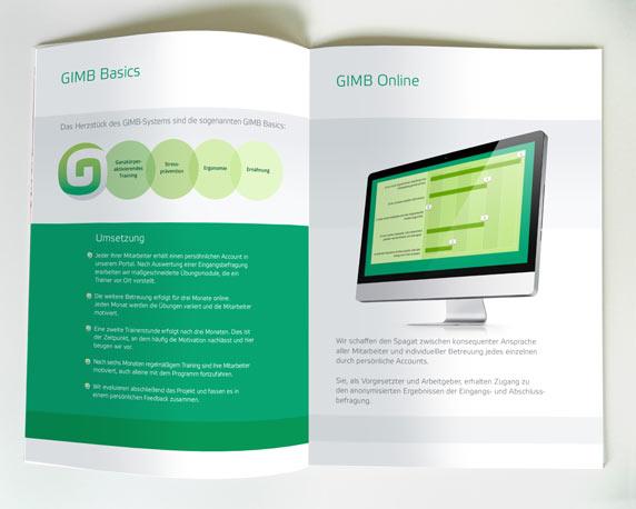 Broschüre, Gesundheit, Beruf, GIMB