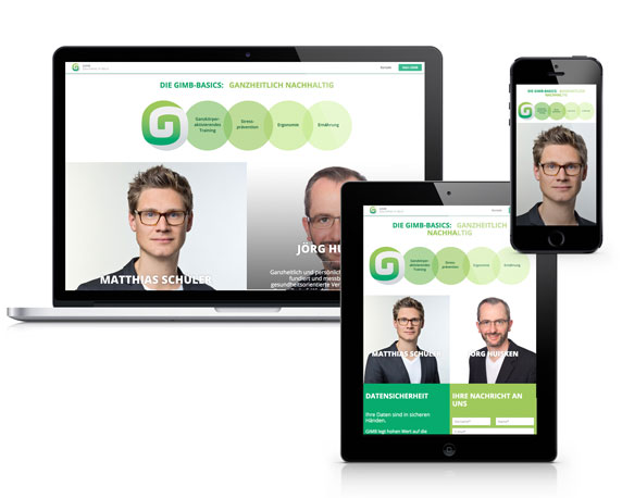 Website, GIMB, Gesundheit, Beruf, Werbeagentur magenta, Mannheim