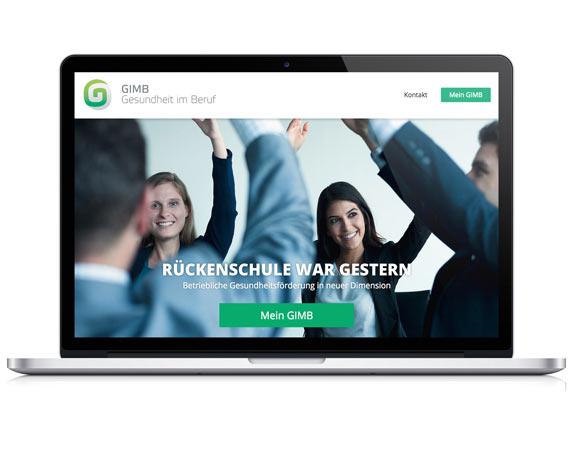 Website, GIMB, Gesundheit, Beruf