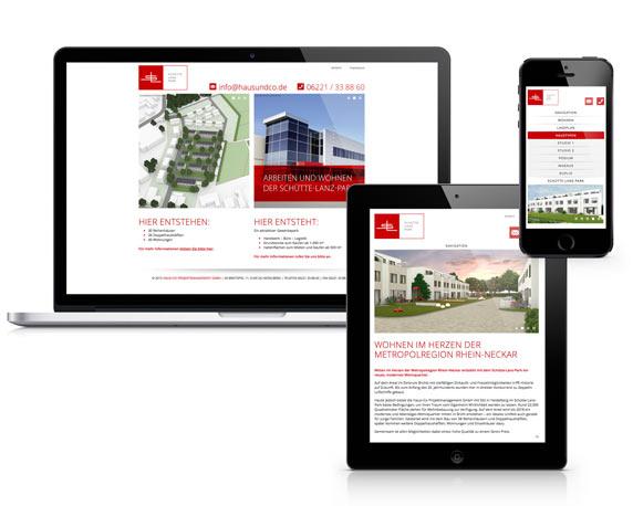 Haus+Co, Schütte-Lanz-Park, Website, Werbeagentur magenta, Mannheim