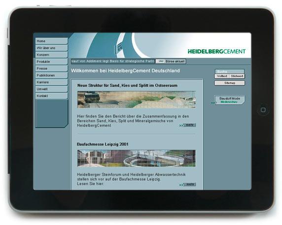 HeidelbergCement AG, Website, Werbeagentur magenta, Mannheim