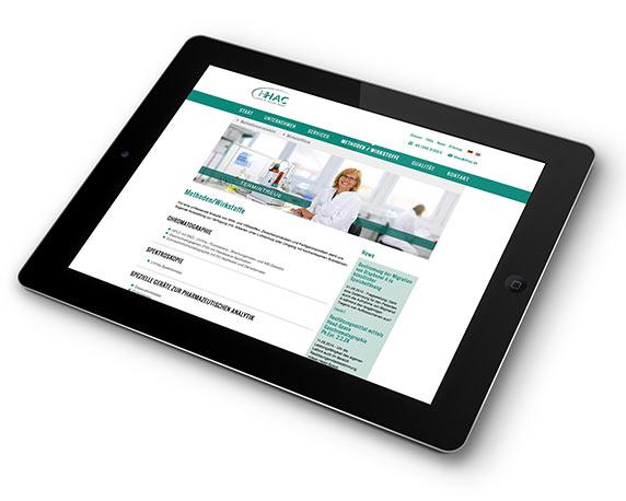 HHAC Labor Dr. Heusler GmbH, Website, Werbeagentur magenta, Mannheim