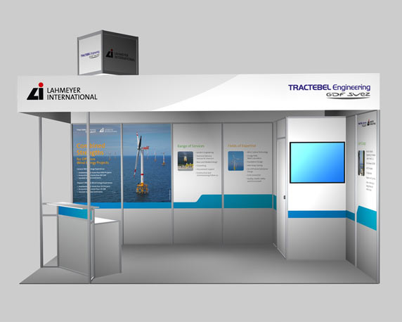 Lahmeyer International, Tractebel Engineering, Messestand, 3D-Visualisierung, EWEA Offshore, 2015