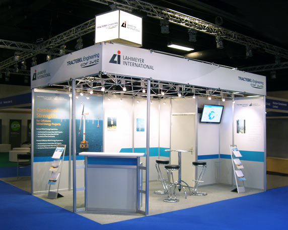 Lahmeyer International, Tractebel Engineering, Messestand, EWEA Offshore, 2015, Werbeagentur magenta, Mannheim