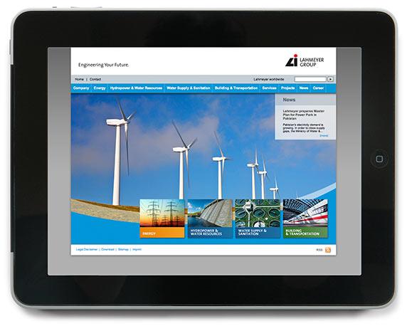 Lahmeyer Gruppe, Website, Werbeagentur magenta, Mannheim