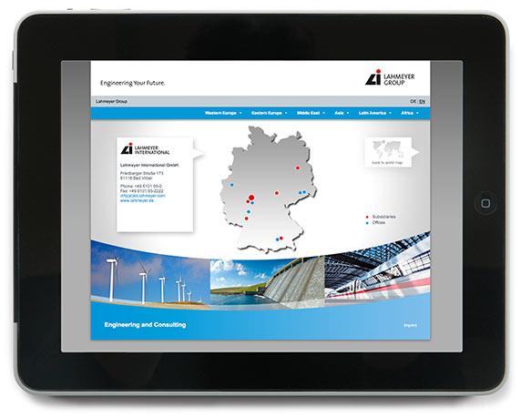 Lahmeyer Gruppe, Website