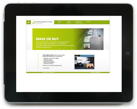 meinl logistic consult, Website, Werbeagentur magenta, Mannheim