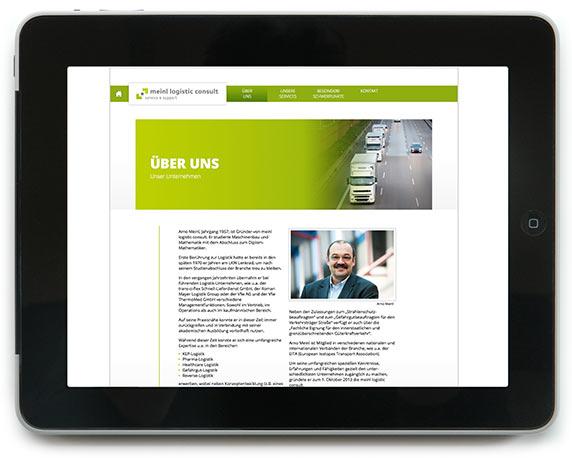 meinl logistic consult, Website