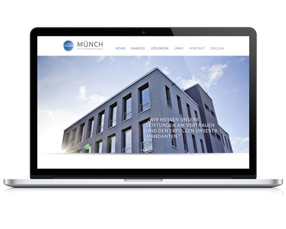 Münch Steuerberatung, Website, Startseite, Home