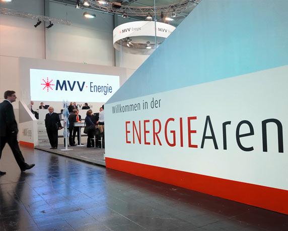 Die Energie-Arena der MVV auf der E-world 2009 in Essen
