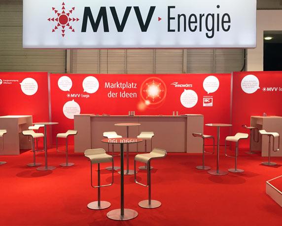 MVV Energie AG, Messestand, E-world Essen 2015, Werbeagentur magenta, Mannheim