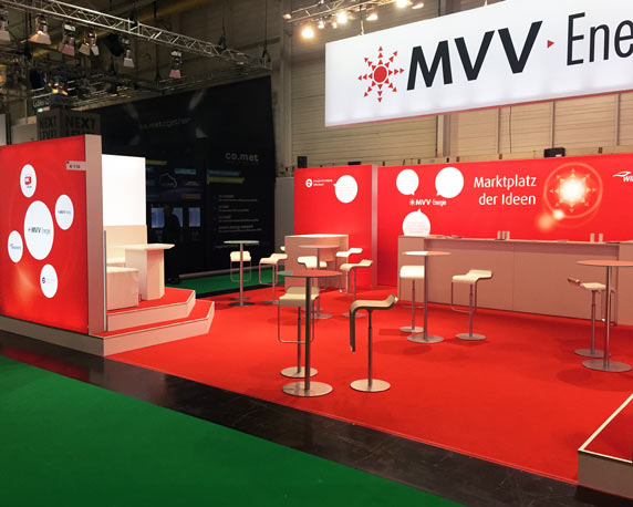 MVV Energie AG, Messestand, E-world Essen 2015