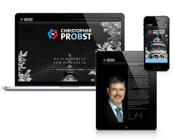 Christopher Probst, Kandidat, Oberbürgermeisterwahl, Landingpage, Response Design