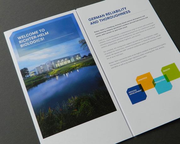Imagebroschüre, Broschüre, Richter-Helm, Biologics