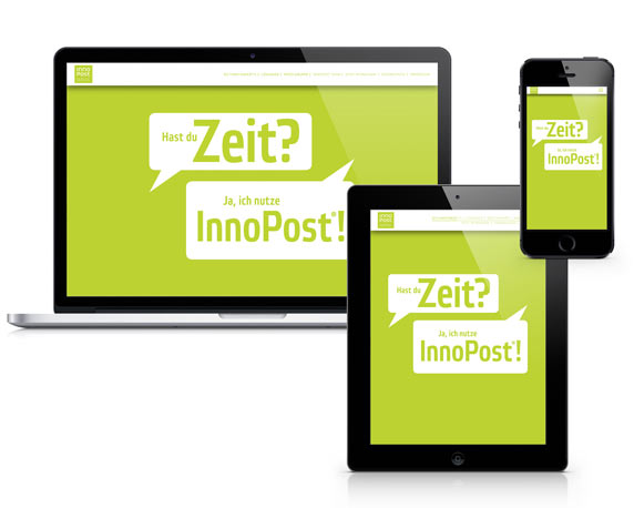 RIECO Gruppe, InnoPost, Mailing, Landingpage