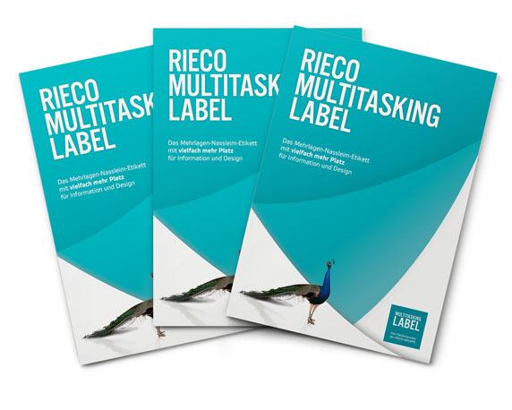 Broschüre, Multitasking-Label, Corporate Design, RIECO Gruppe, Werbeagentur magenta, Mannheim