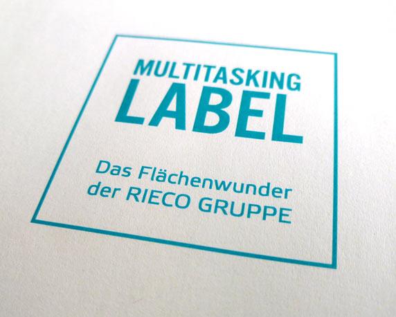 Logo, Multitasking-Label, Corporate Design, RIECO Gruppe