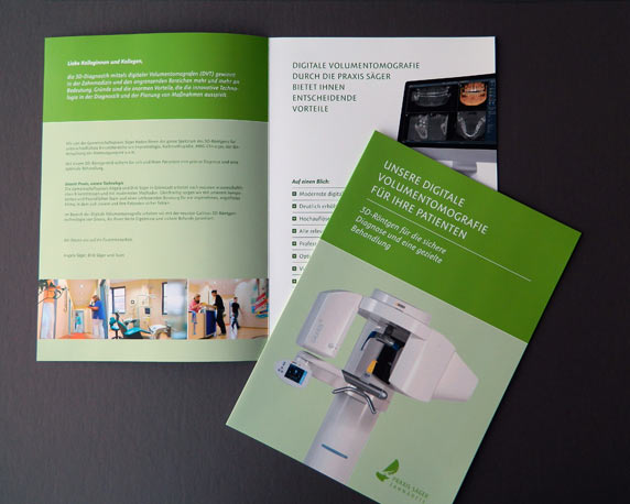 Dr. Säger, Zahnarzt, Grünstadt, Volumentomografie, Informationsbroschüre