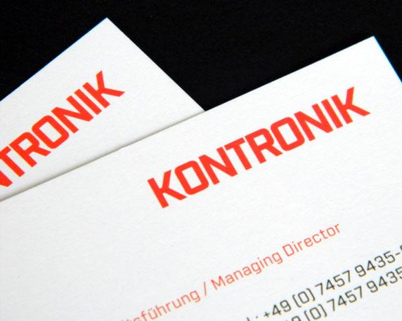 KONTRONIK, SOBEK Drives GmbH, Geschäftsausstattung, Briefbogen