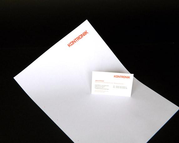 KONTRONIK, SOBEK Drives GmbH, Geschäftsausstattung, Briefbogen, Visitenkarte