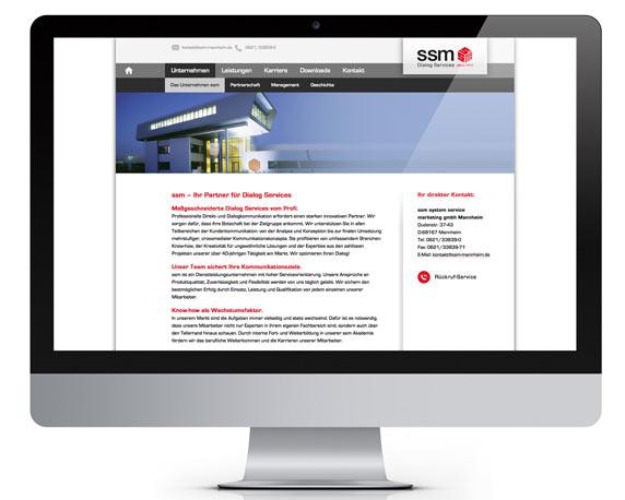 ssm, Website 2014, Unternehmensseite