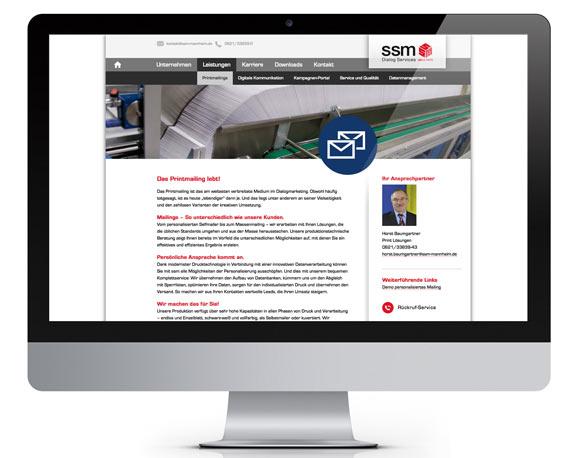 ssm, Website 2014, Leistungen